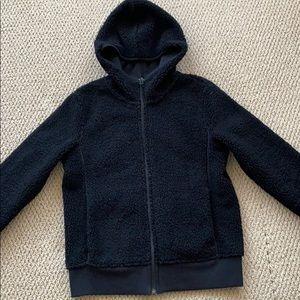 Women UNIQLO teddy fleece hoodie